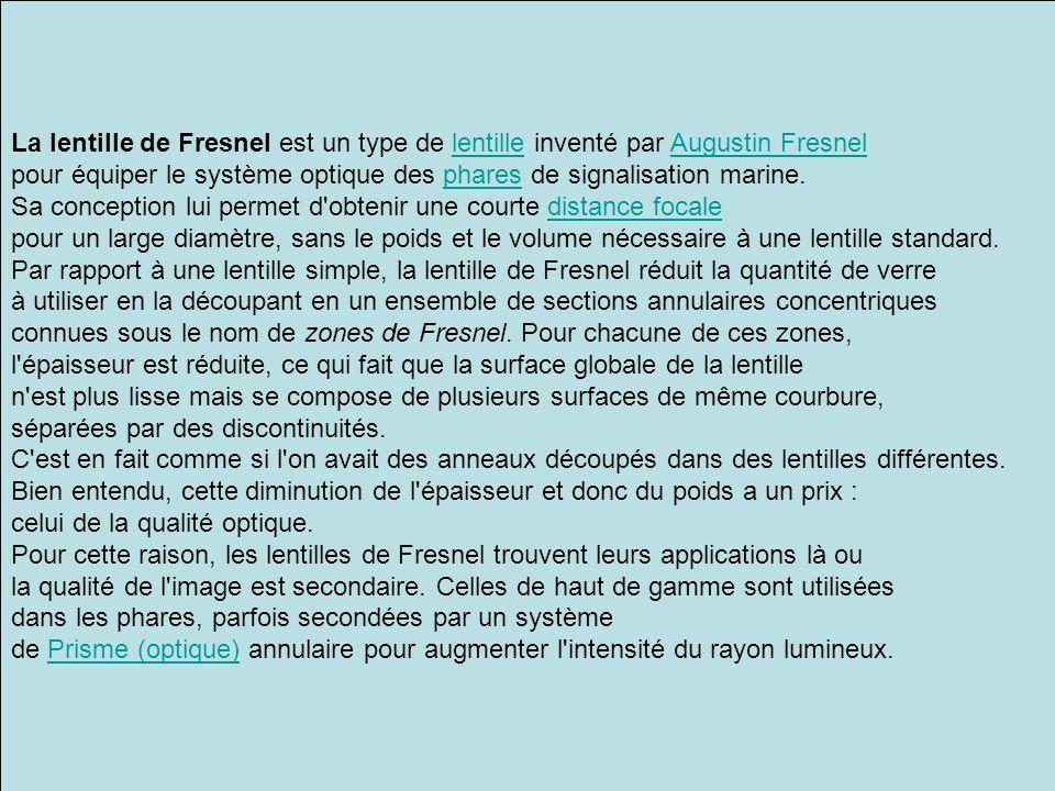 La lentille de Fresnel