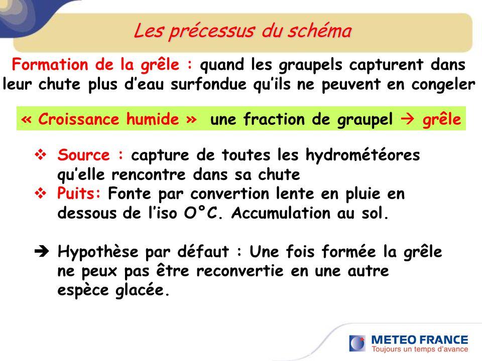 Les précessus du schéma Rencontres R&D RETIC, Toulouse, 5 juin 2009 « Croissance humide » une fraction de graupel grêle Source : capture de toutes les
