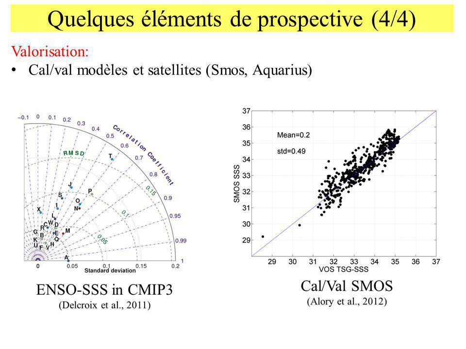 Quelques éléments de prospective (4/4) Valorisation: Cal/val modèles et satellites (Smos, Aquarius)