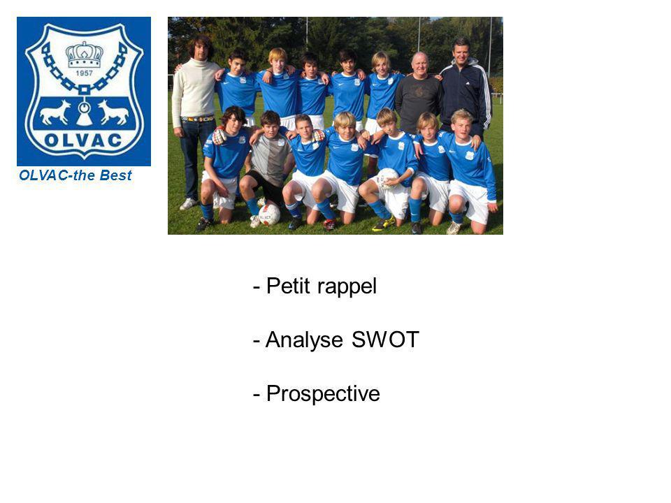 OLVAC - Petit rappel - Analyse SWOT - Prospective OLVAC-the Best
