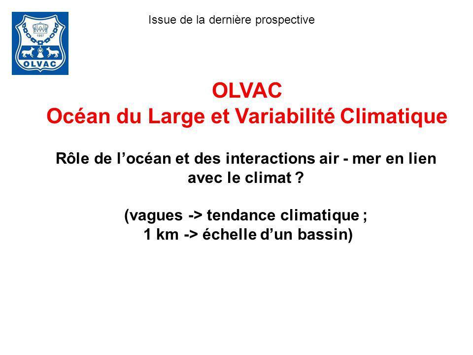 OLVAC Océan du Large et Variabilité Climatique Rôle de locéan et des interactions air - mer en lien avec le climat ? (vagues -> tendance climatique ;