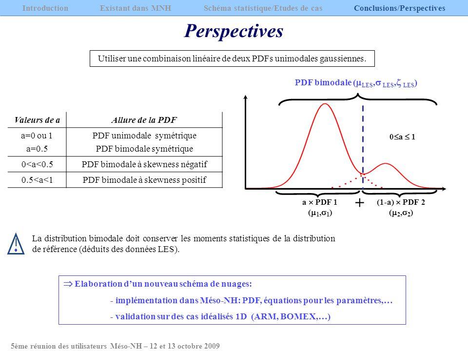 Utiliser une combinaison linéaire de deux PDFs unimodales gaussiennes. La distribution bimodale doit conserver les moments statistiques de la distribu