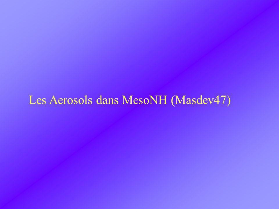 Les Aerosols dans MesoNH (Masdev47)