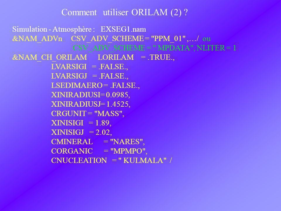 Comment utiliser ORILAM (2) .