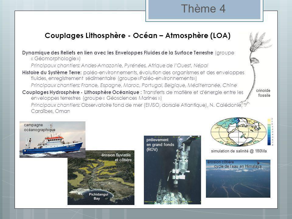 Surfaces Continentales et Changements Globaux (SCCG) Thème 5.