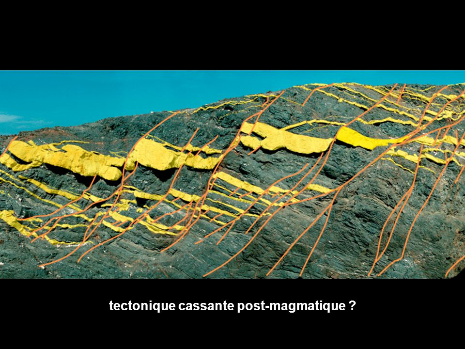 tectonique cassante post-magmatique ?