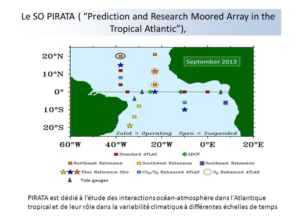 Le SO PIRATA ( Prediction and Research Moored Array in the Tropical Atlantic), PIRATA est dédié à létude des interactions océan-atmosphère dans l'Atla