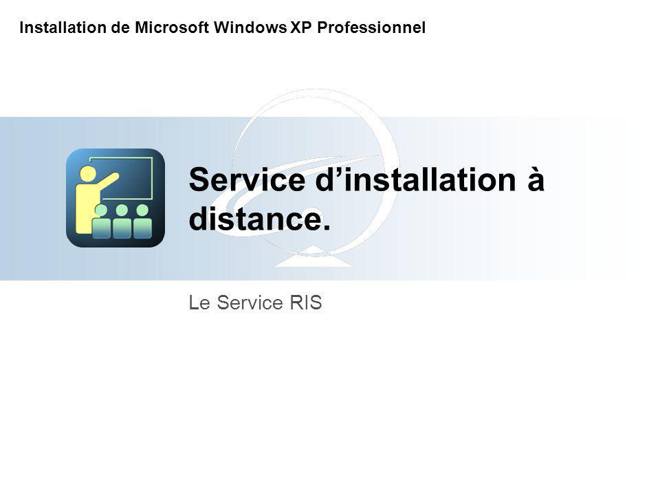 Service dinstallation à distance. Le Service RIS Installation de Microsoft Windows XP Professionnel