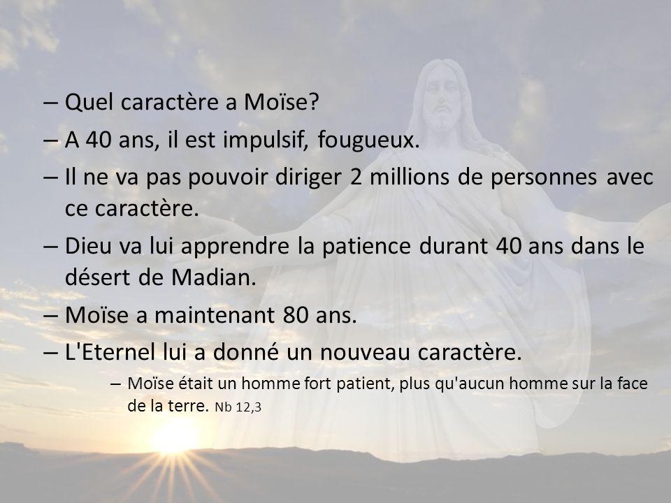 – Quel caractère a Moïse.– A 40 ans, il est impulsif, fougueux.