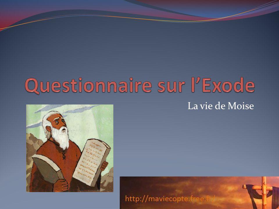 La vie de Moise