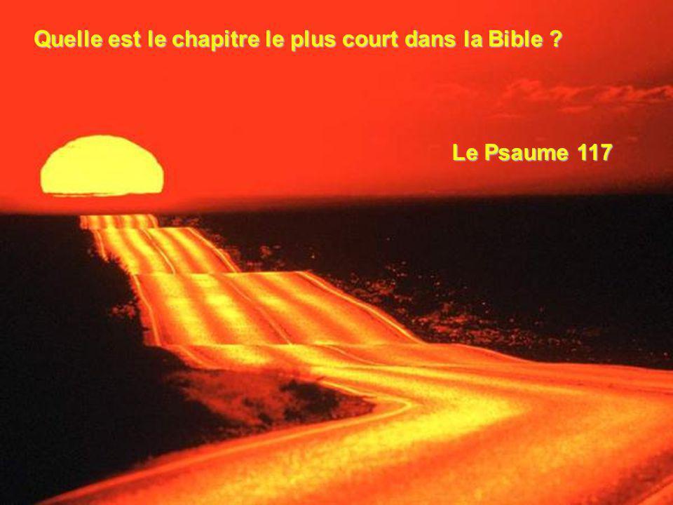 Quelle est le chapitre le plus court dans la Bible ? Le Psaume 117