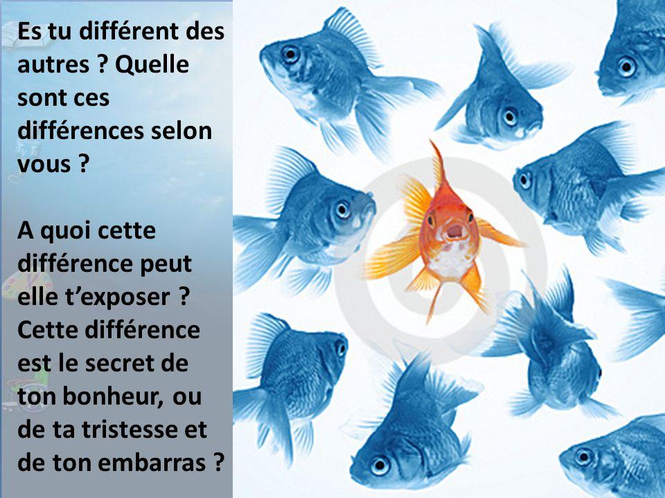 Es tu différent des autres . Quelle sont ces différences selon vous .