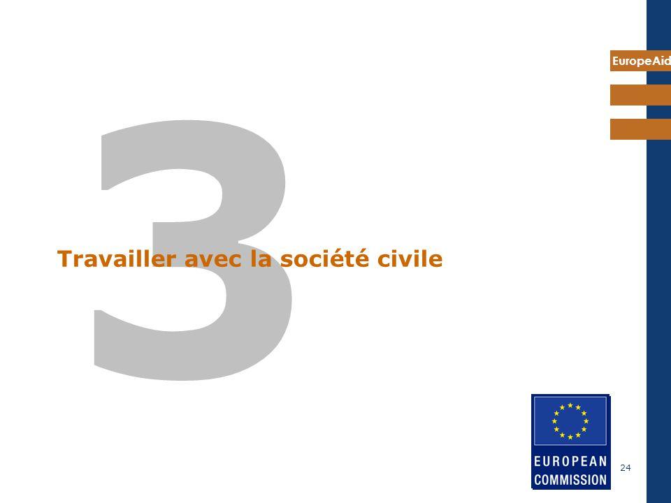 EuropeAid 24 3 Travailler avec la société civile