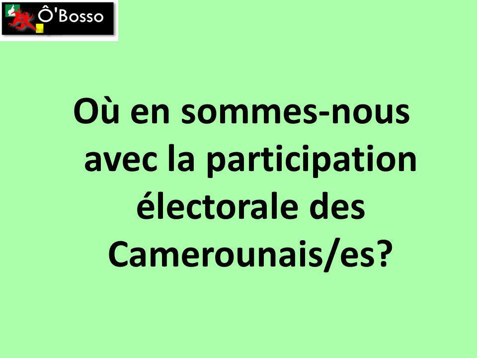 Où en sommes-nous avec la participation électorale des Camerounais/es?
