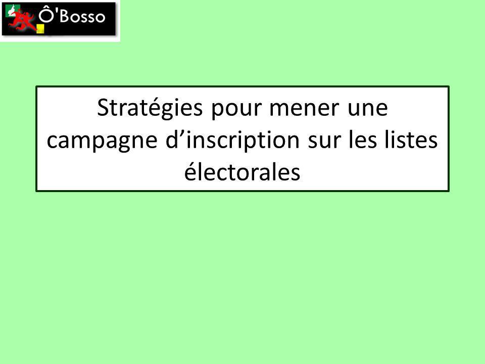 Stratégies pour mener une campagne dinscription sur les listes électorales