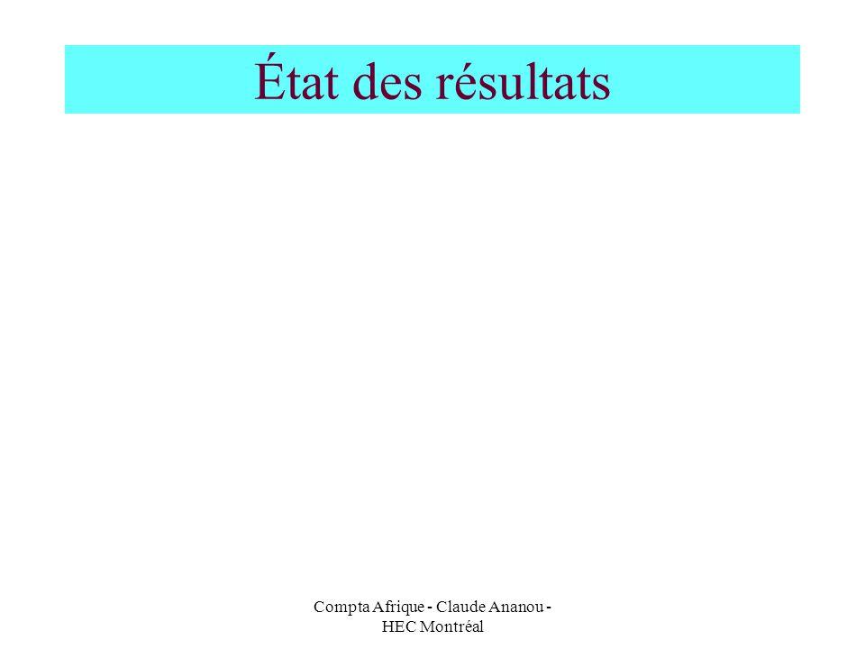 Compta Afrique - Claude Ananou - HEC Montréal État des résultats