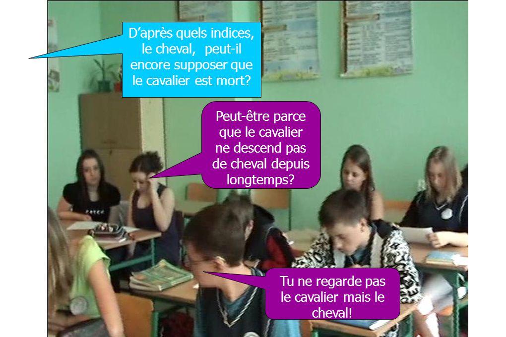 Observations : Les élèves ont aperçu que lordre du texte influe sur la mention.