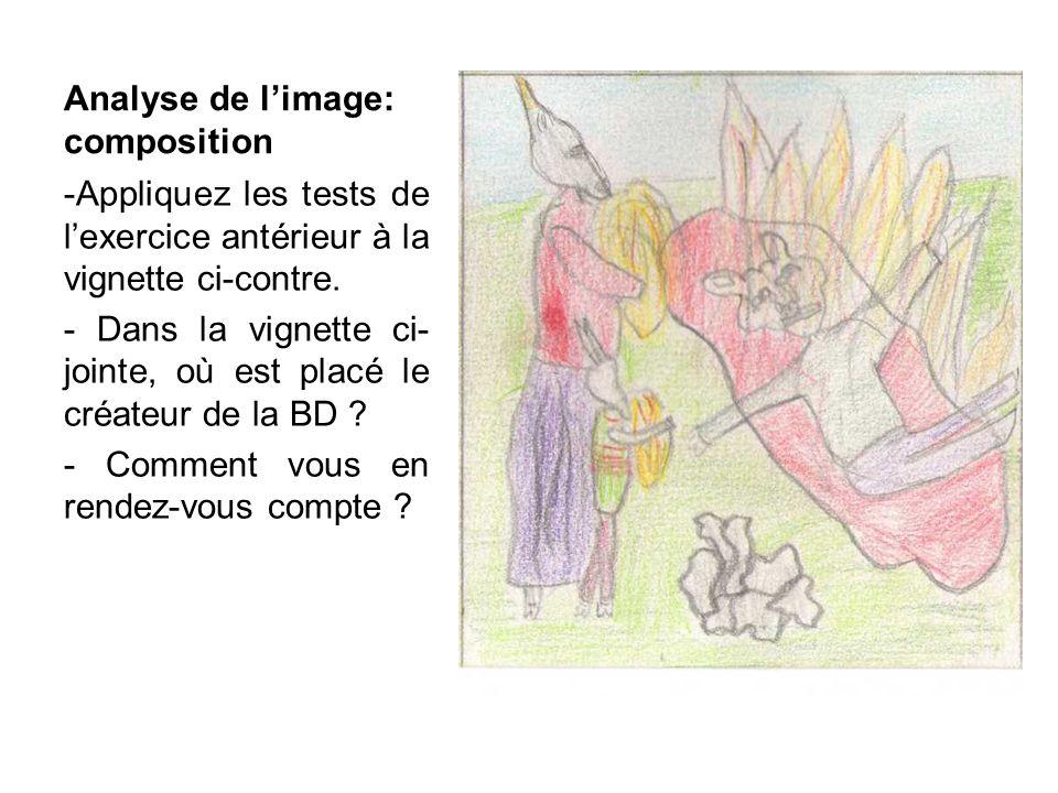 Analyse de limage: composition -Appliquez les tests de lexercice antérieur à la vignette ci-contre.