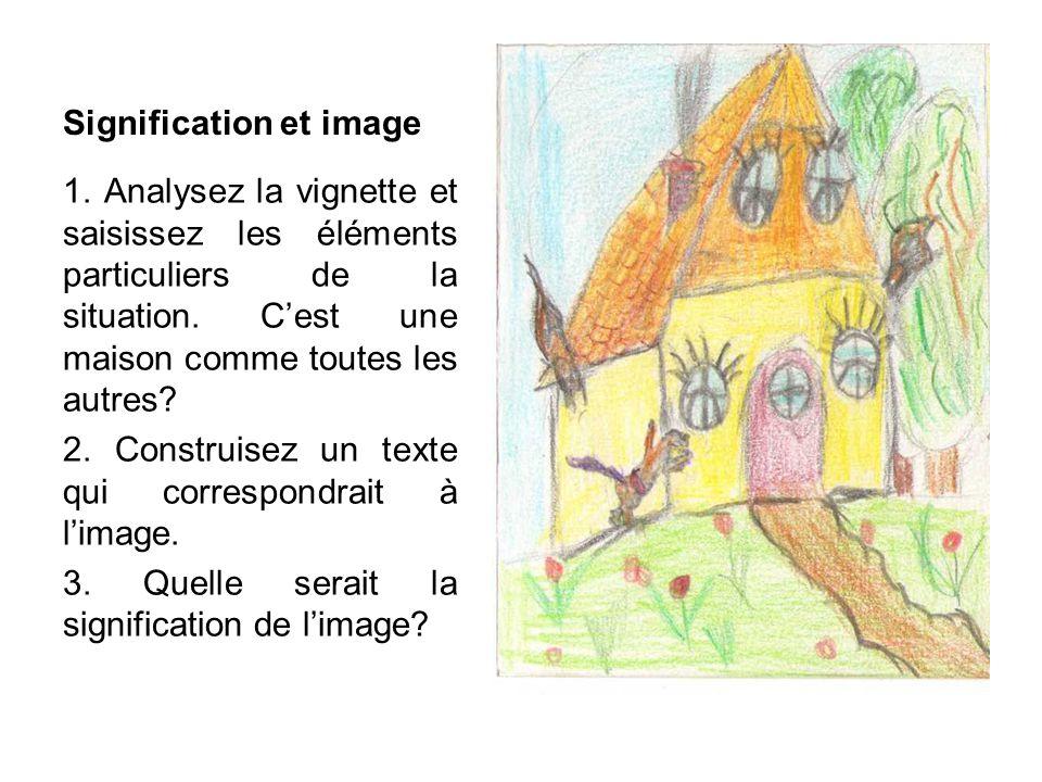 Signification et image 1.