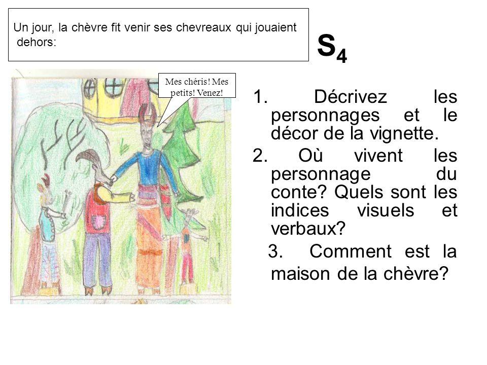 1.Décrivez les personnages et le décor de la vignette.