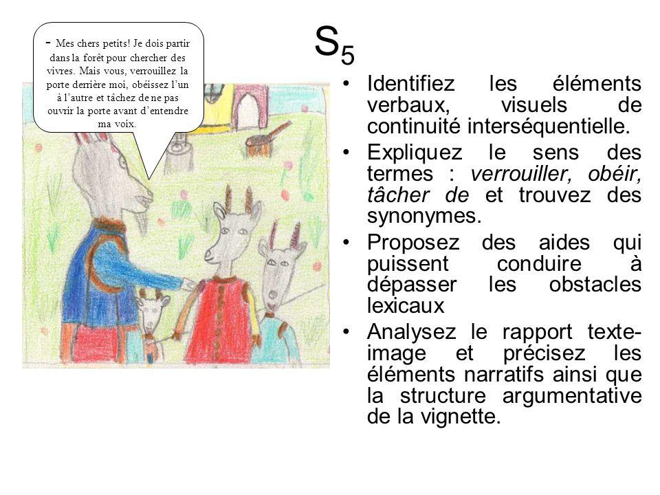 Identifiez les éléments verbaux, visuels de continuité interséquentielle.