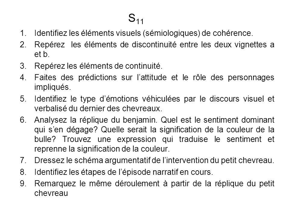 S 11 1.Identifiez les éléments visuels (sémiologiques) de cohérence.