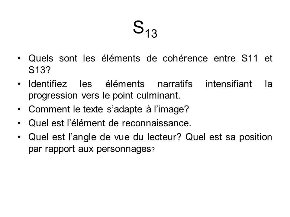 Quels sont les éléments de cohérence entre S11 et S13.