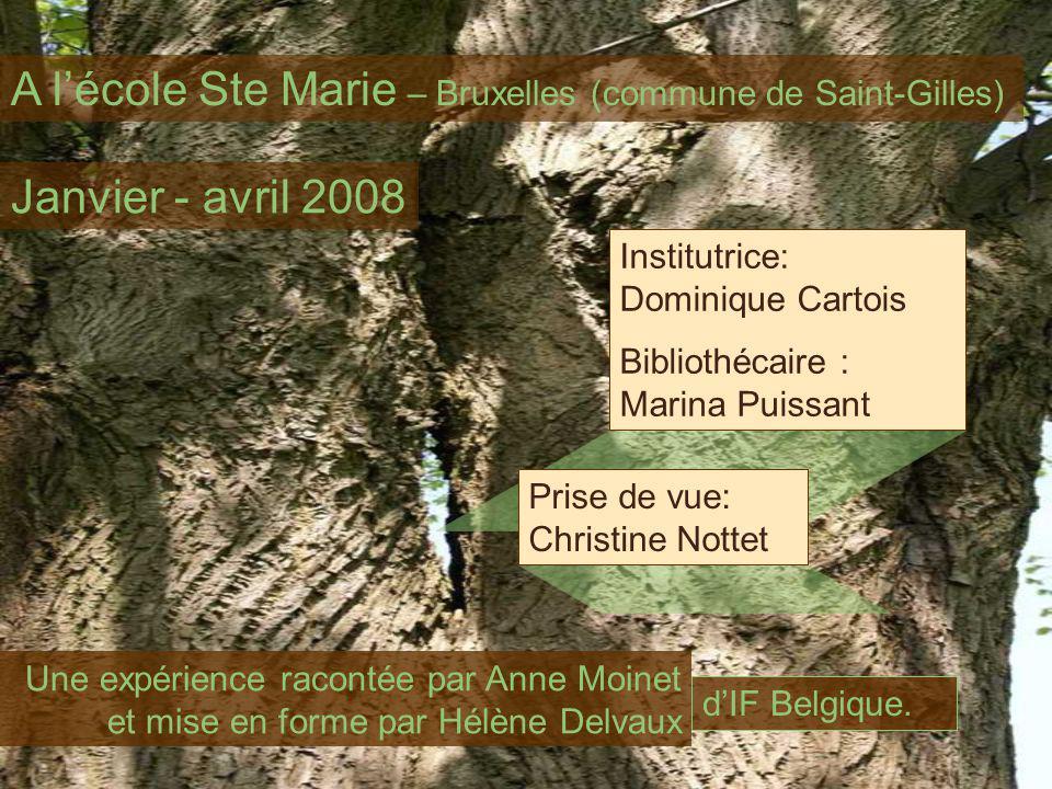 A lécole Ste Marie – Bruxelles (commune de Saint-Gilles) Institutrice: Dominique Cartois Bibliothécaire : Marina Puissant Janvier - avril 2008 Une exp