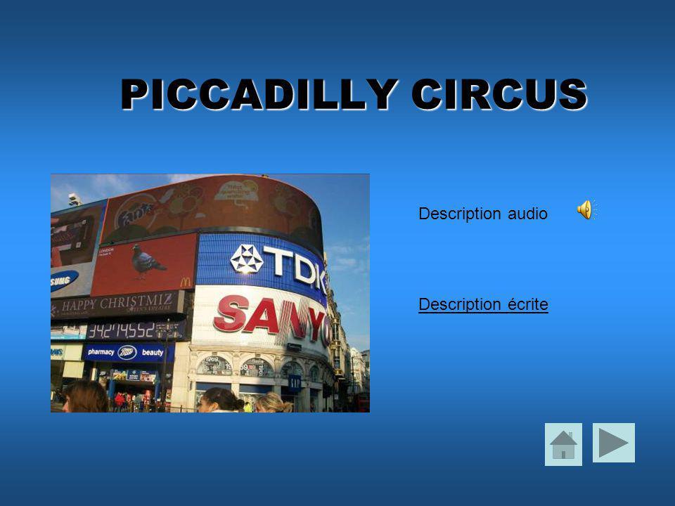 PICCADILLY CIRCUS Description écrite Description audio