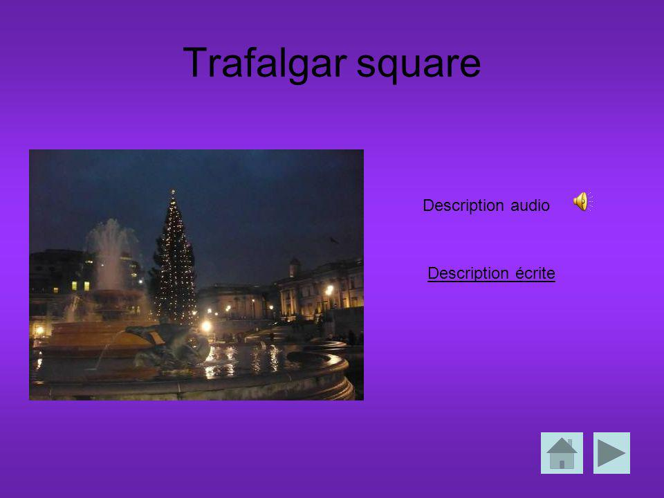 Trafalgar square Description écrite Description audio