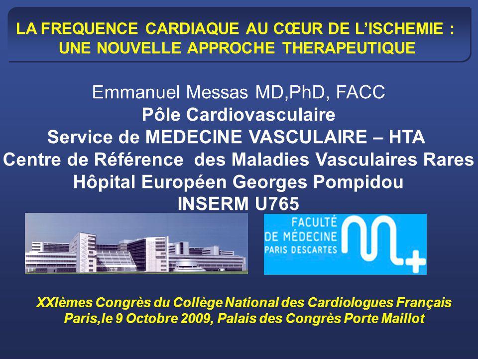 FC et traitement par bêta-bloquant p<0.001 0 10 20 30 40 50 60 70 80 Avec bêta-bloquant Sans bêta-bloquant 69±8 73±8 FC moyenne bpm 62% 38% 8922 coronariens stables en médecine générale en France dont 97% suivis par un cardiologue Lorgis et al.