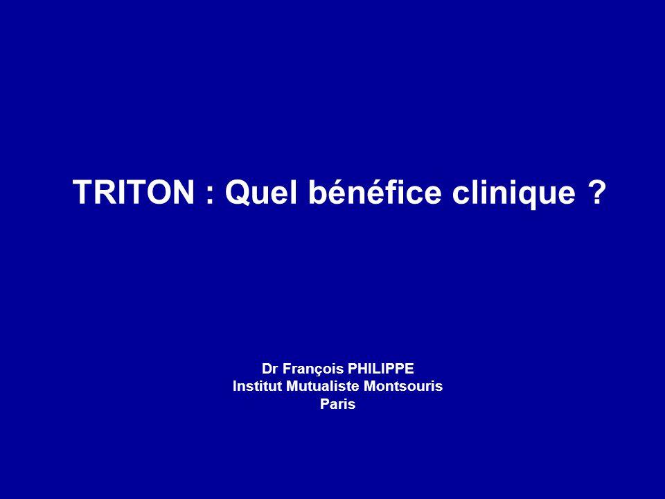 TRITON : Quel bénéfice clinique ? Dr François PHILIPPE Institut Mutualiste Montsouris Paris