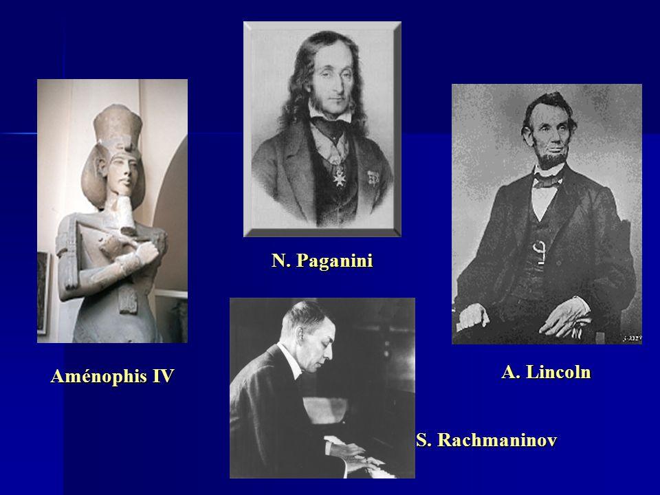 Aménophis IV S. Rachmaninov N. Paganini A. Lincoln