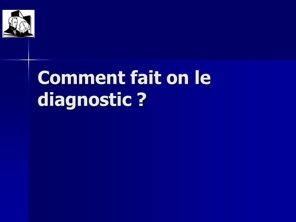 Comment fait on le diagnostic ?