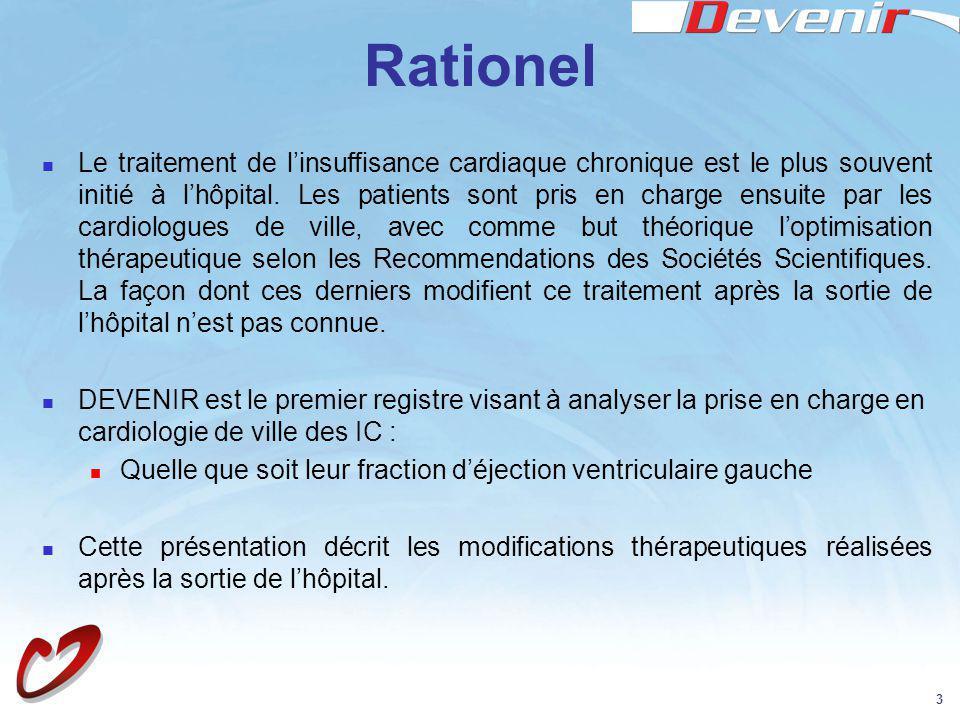 3 Rationel Le traitement de linsuffisance cardiaque chronique est le plus souvent initié à lhôpital. Les patients sont pris en charge ensuite par les