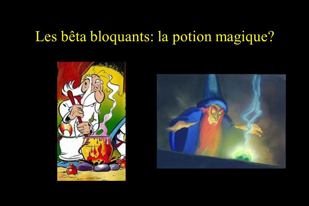 Les bêta bloquants: la potion magique?