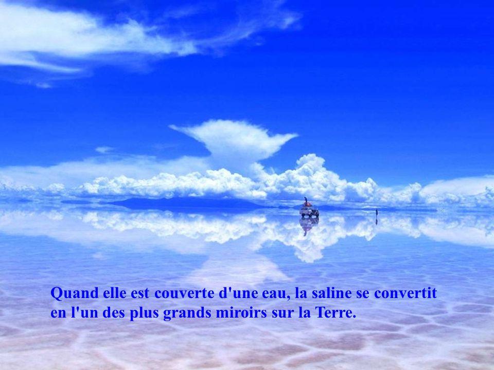 La saline d'Uyuni ou de Tunupa est, avec ses 12.000 km ², le plus grand désert de sel du monde. Il est situé à environ 3.650 mètres daltitude sur les