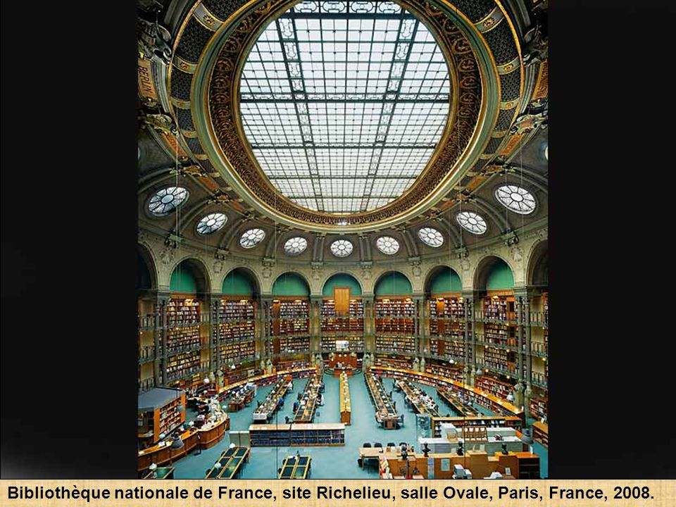 Bibliothèque nationale de France, site Richelieu, salle Labrouste, Paris, France, 2008.