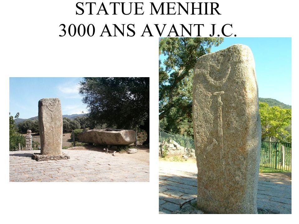 STATUE MENHIR 3000 ANS AVANT J.C.