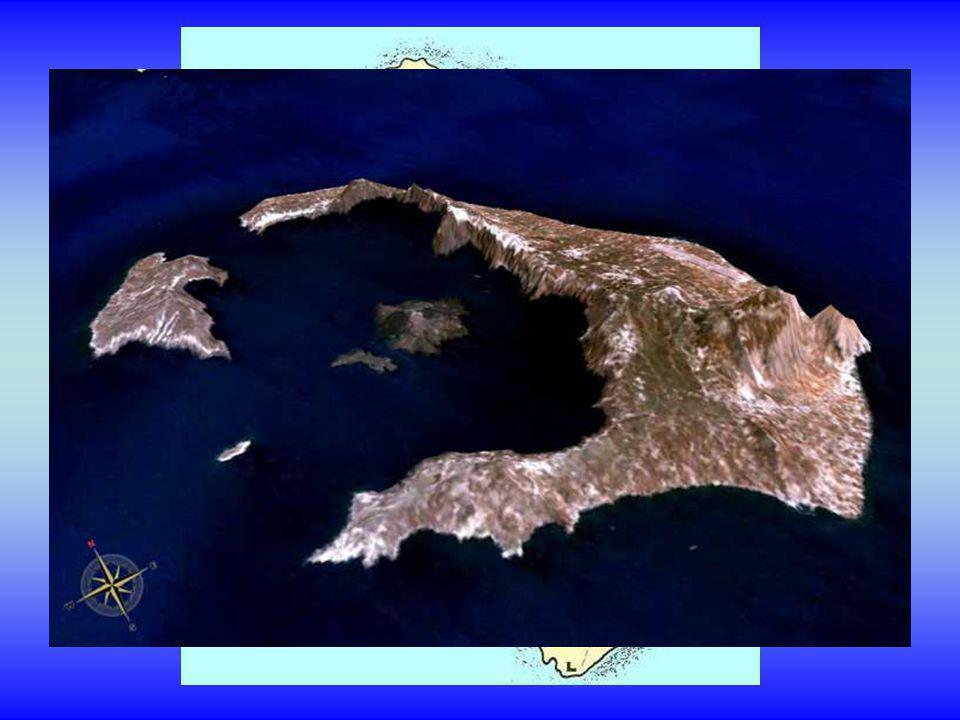 La partie volcanique active est formée par lîle de Néa Kaméni.