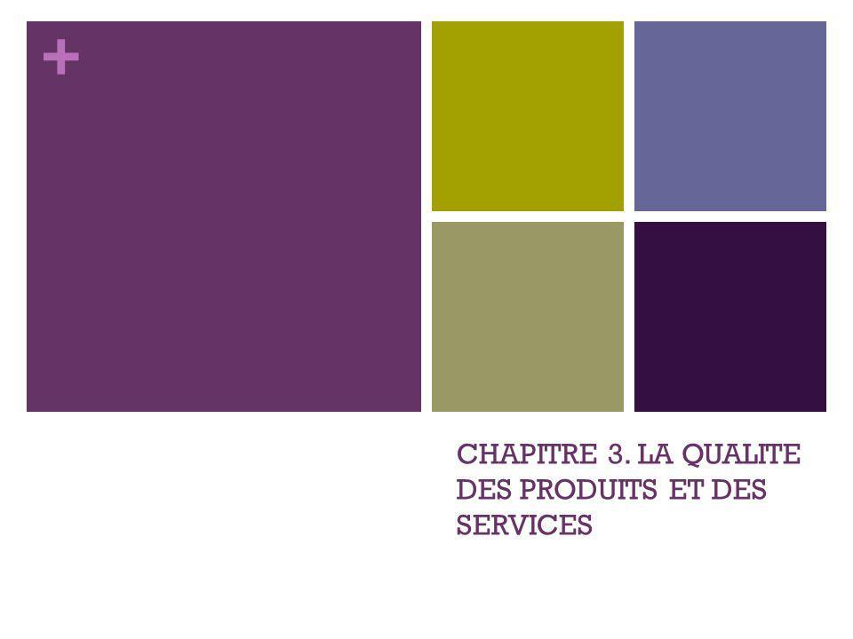 + CHAPITRE 3. LA QUALITE DES PRODUITS ET DES SERVICES