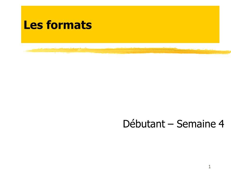 Principaux formats : Images 12 Tout dépend de la qualité finale souhaitée et du poids accepté : Gif : peu de couleurs (256), peu de poids (quelques Ko) Jpg : beaucoup de couleurs (millions), peu de poids (le plus souvent moins de 1Mo) On choisit le niveau de qualité en fonction du but final (photo didentité ou poster) Compression jpg : supprimer les px superflus.