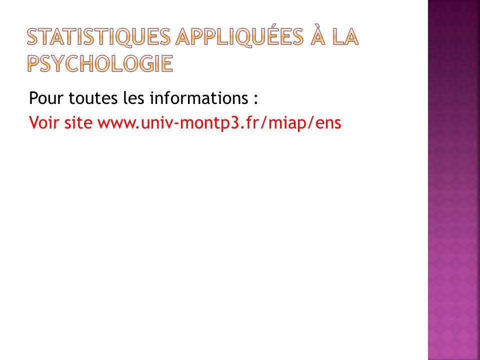 Pour toutes les informations : Voir site www.univ-montp3.fr/miap/ens