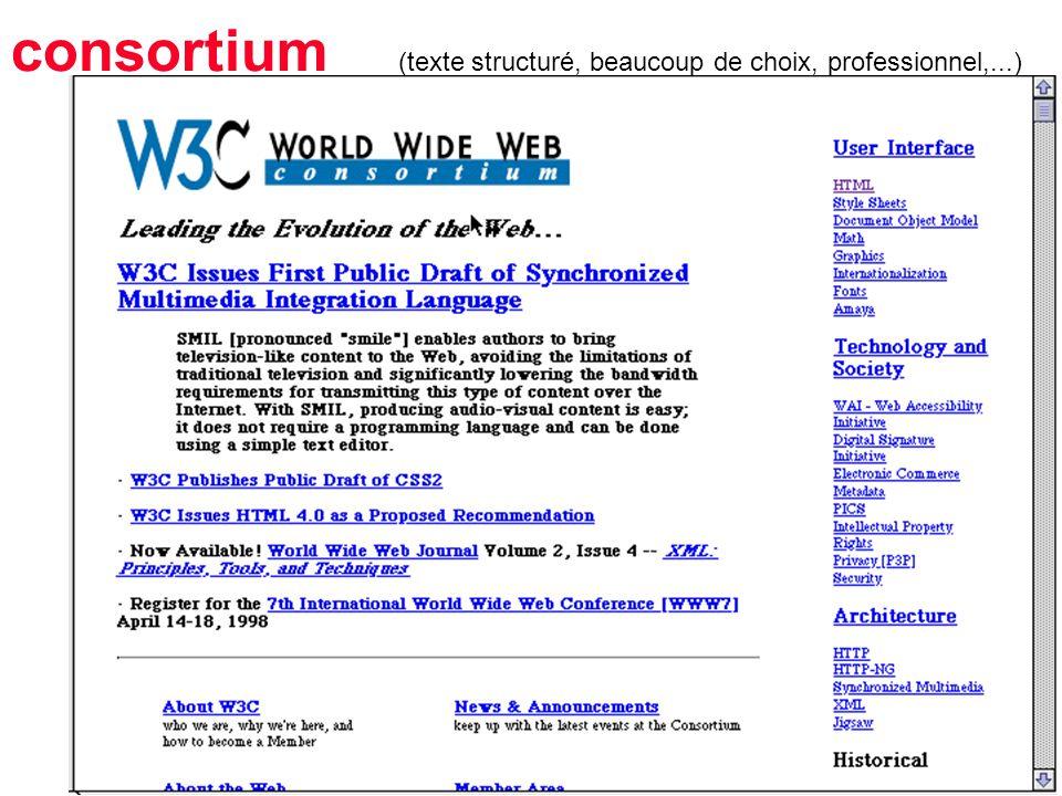 15 consortium (texte structuré, beaucoup de choix, professionnel,...)