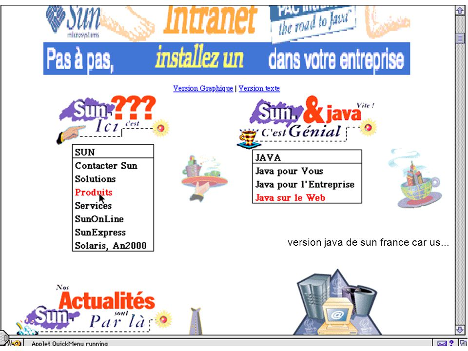 18 et sun version java de sun france car us...