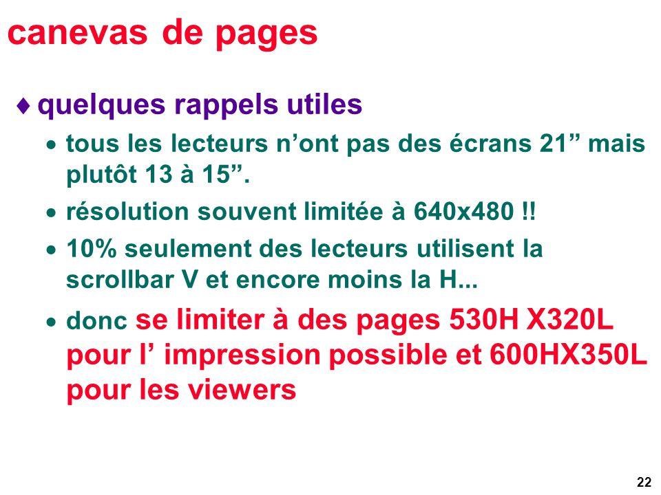 22 canevas de pages quelques rappels utiles tous les lecteurs nont pas des écrans 21 mais plutôt 13 à 15.