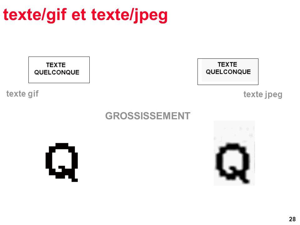 28 texte/gif et texte/jpeg texte gif GROSSISSEMENT texte jpeg