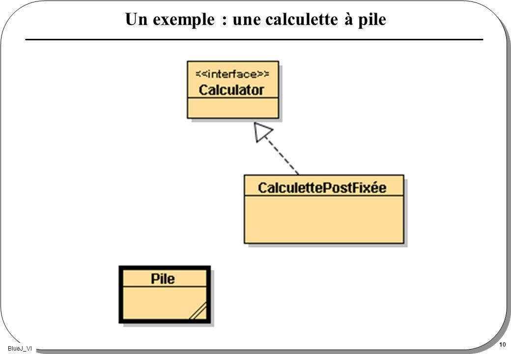 BlueJ_VI 10 Un exemple : une calculette à pile