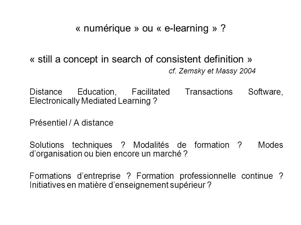 Une tentative de comparaison à partir de questions centrales 1 - Largument de la menace extérieure : 2 - Un objectif de rationalité économique : 3 – La question de la flexibilité : 4 - Le développement des technologies numériques : 5 – Quentend-on par e-learning .