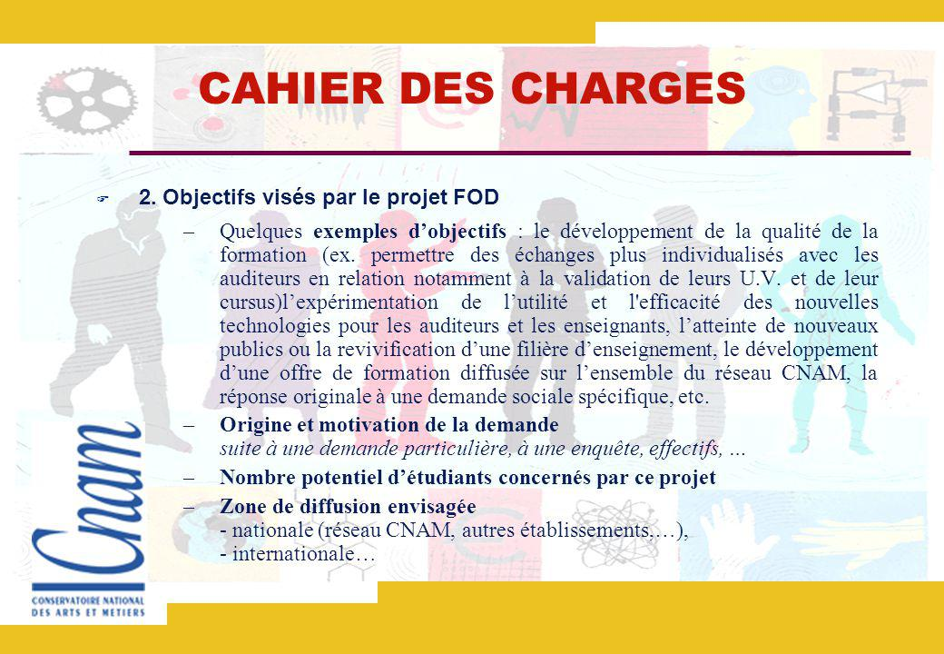 CAHIER DES CHARGES 2.